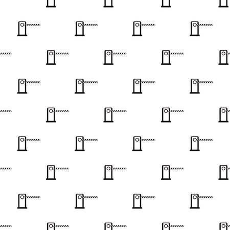 Gate in parking lot pattern. Simple illustration of gate in parking lot vector pattern for web