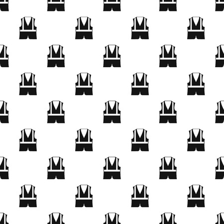 reflective vest: Reflective vest pattern. Simple illustration of reflective vest vector pattern for web