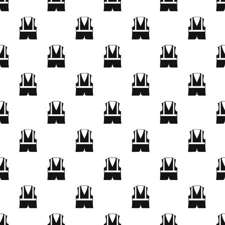 reflective: Reflective vest pattern. Simple illustration of reflective vest vector pattern for web