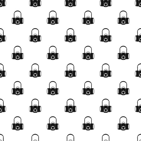 army gas mask: Gas half mask pattern. Simple illustration of gas half mask vector pattern for web