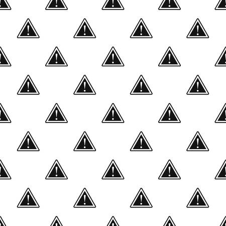 danger ahead: Road sign warning pattern. Simple illustration of road sign warning vector pattern for web