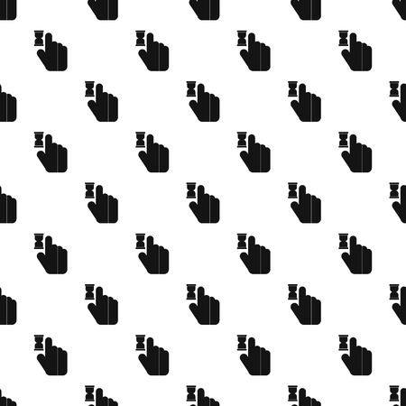 anticipation: Cursor hand in anticipation pattern. Simple illustration of cursor hand in anticipation vector pattern for web