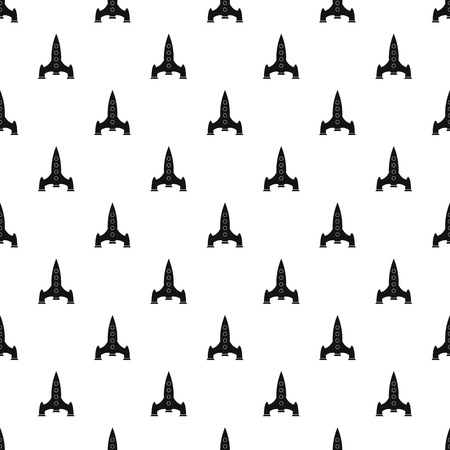 Rocket with four portholes pattern. Simple illustration of rocket with four portholes vector pattern for web Illustration
