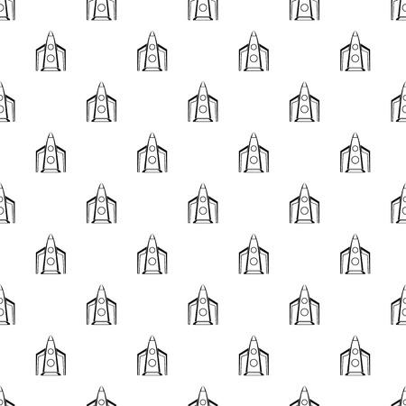 space flight: Rocket for space flight pattern. Simple illustration of rocket for space flight vector pattern for web