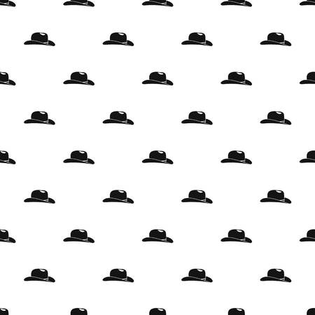 rancher: Cowboy hat pattern. Simple illustration of cowboy hat vector pattern for web