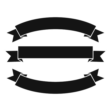 Ribbons icon. Simple illustration of ribbons vector icon for web