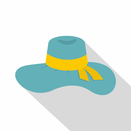 sunhat: Woman hat icon. Flat illustration of woman hat vector icon for web Illustration