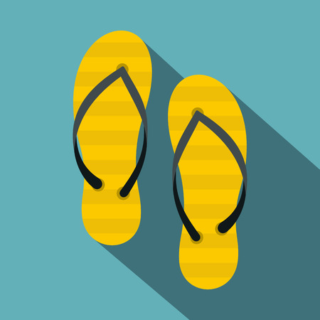 Flip flop icon. Flat illustration of flip flop vector icon for web