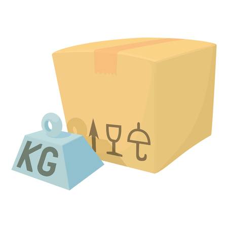Hard box icon. Cartoon illustration of hard box vector icon for web
