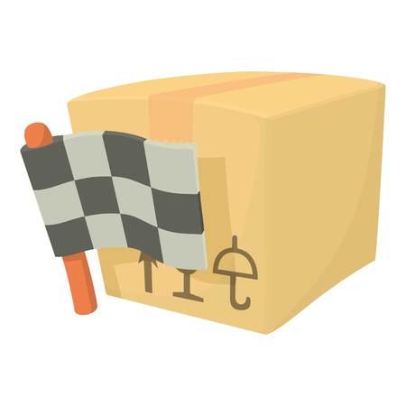 Start delivery box icon. Cartoon illustration of start delivery box vector icon for web