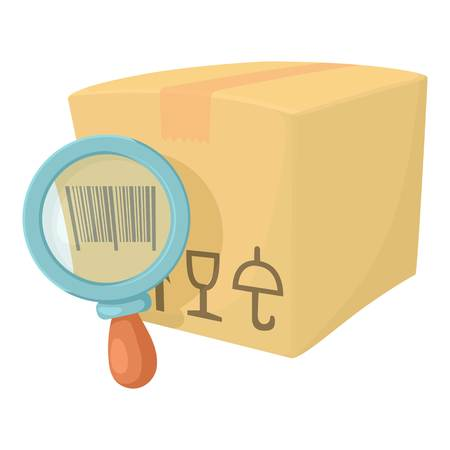 Barcode box icon. Cartoon illustration of barcode box vector icon for web