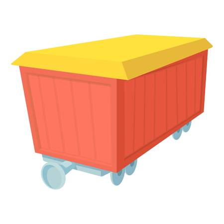 boxcar: Boxcar icon. Cartoon illustration of boxcar vector icon for web