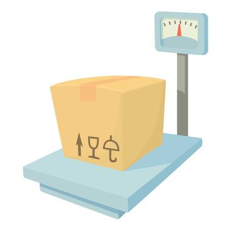 hydraulic platform: Storage scales icon. Cartoon illustration of storage scales vector icon for web