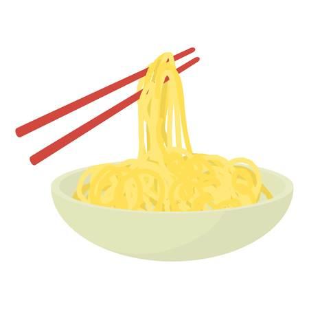 Chopsticks icon. Cartoon illustration of chopsticks vector icon for web
