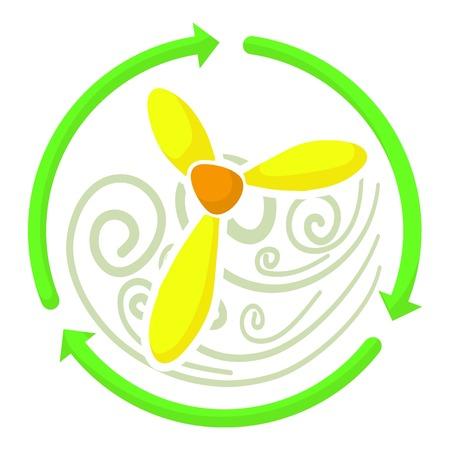 airscrew: Ventilator icon. Cartoon illustration of ventilator vector icon for web