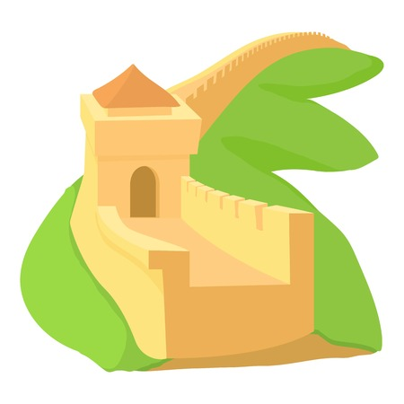 Chinese wall icon. Cartoon illustration of chinese wall vector icon for web
