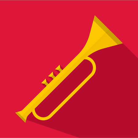 clarinet player: Trumpet icon. Flat illustration of trumpet vector icon for web