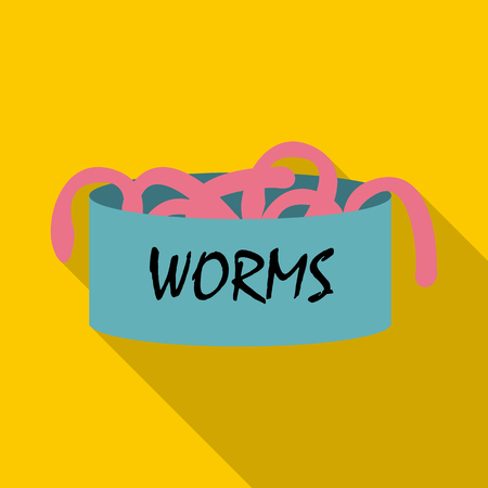 symbol victim: Worms icon. Flat illustration of worms vector icon for web