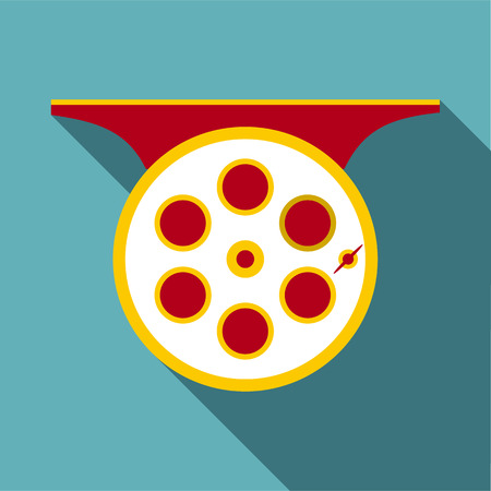 spinning reel: Spinning reel icon. Flat illustration of spinning reel vector icon for web Illustration