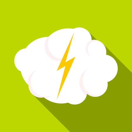 electroshock: High voltage icon. Flat illustration of high voltage vector icon for web Illustration