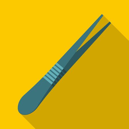 pinzas: icono de pinza de cejas. Ilustración plana de la pinza de cejas icono vectorial para la web