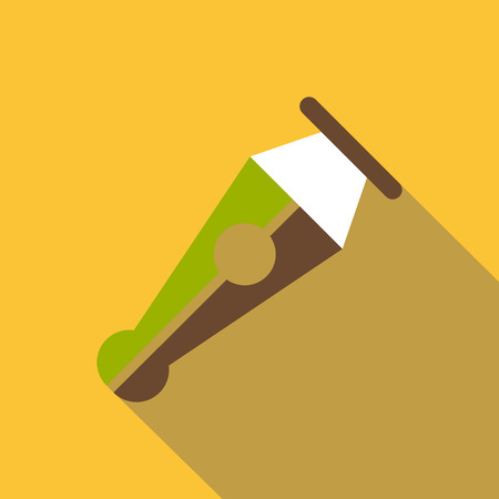 Pen icon. Flat illustration of pen vector icon for web