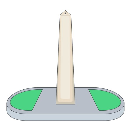 Obelisco of Buenos Aires, Argentina icon Illustration