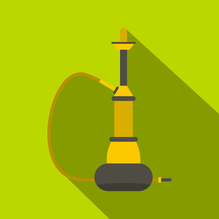 middle joint: Yellow hookah icon, flat style