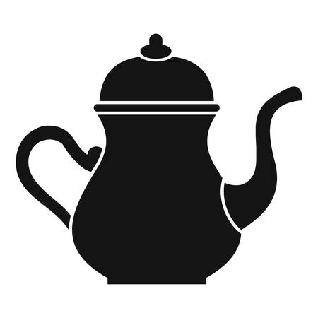middle eastern food: Traditional Turkish teapot icon, simple style
