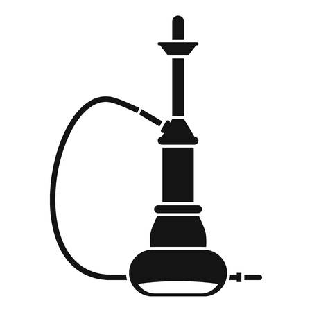 middle joint: Hookah icon, simple style