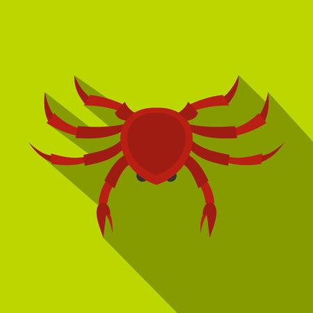 Crab icon, flat style Illustration