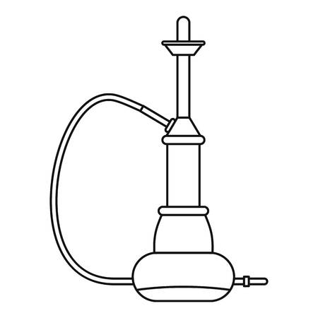 middle joint: Eastern hookah icon, outline style