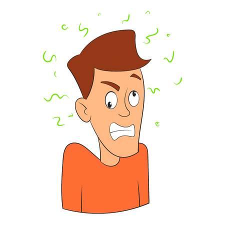 Fear icon. Cartoon illustration of fear vector icon for web design Illustration