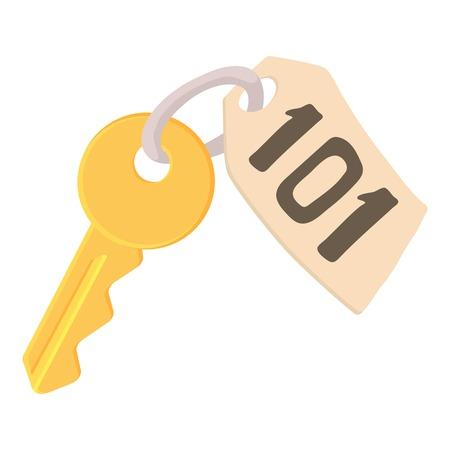 Room key at hotel icon. Cartoon illustration of room key at hotel vector icon for web