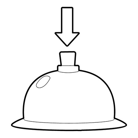 Table call icon. Outline illustration of table call vector icon for web