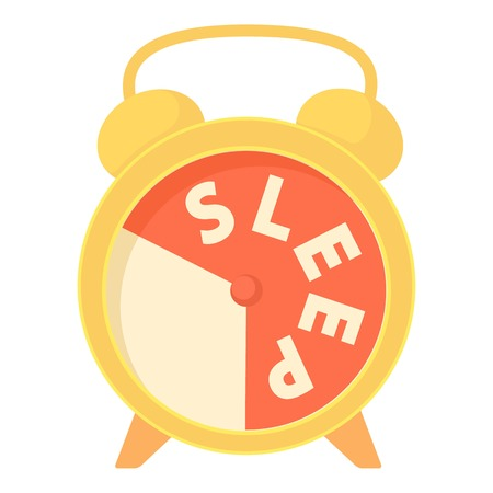 Time to sleep icon. Cartoon illustration of time to sleep vector icon for web Illustration