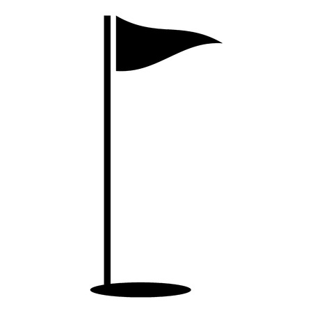 Flags of golf course icon. Simple illustration of flags of golf course vector icon for web