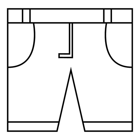 pocket size: Men classic shorts icon. Outline illustration of men classic shorts vector icon for web Illustration