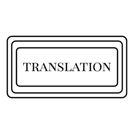 talking dictionary: Translation button icon. Outline illustration of translation button vector icon for web