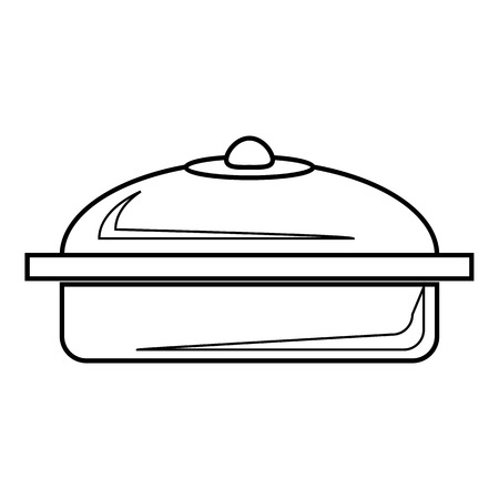 steam cooker: Pot icon. Outline illustration of pot vector icon for web Illustration