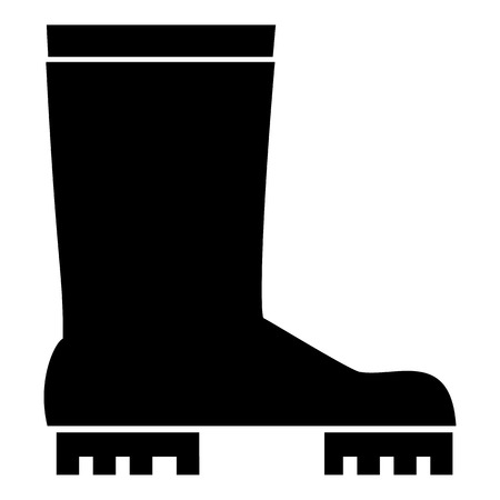 moccasin: Rubber boots icon, simple style