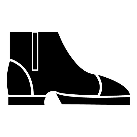 loafer: Men boots icon, simple style