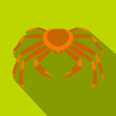 Crab sea animal icon, flat style