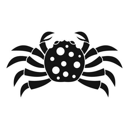 Crab sea animal icon, simple style