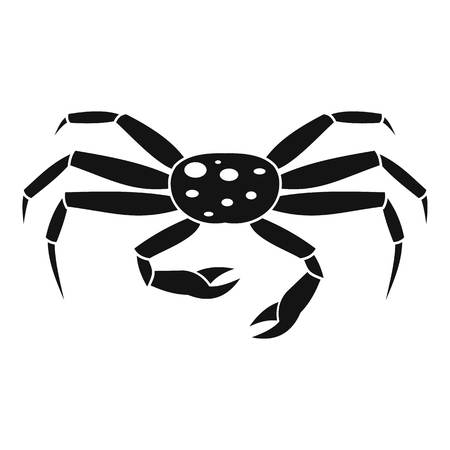 Crab seafood icon, simple style Illustration