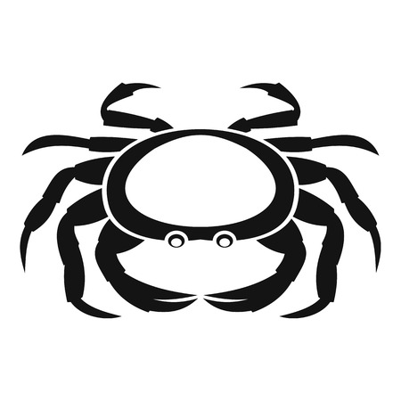 Seafood crab icon, simple style Illustration