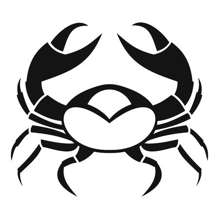 crab legs: Big crab icon, simple style Illustration