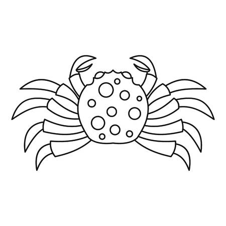 Raw crab icon, outline style