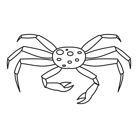 Live spider crab icon, outline style