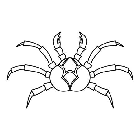 crab legs: Fresh crab icon, outline style